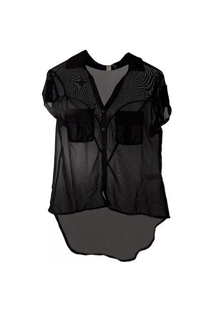 Blusa Dafiti Moda Uno Core Negro   Dafiti Moda   Env  O Y Cambio