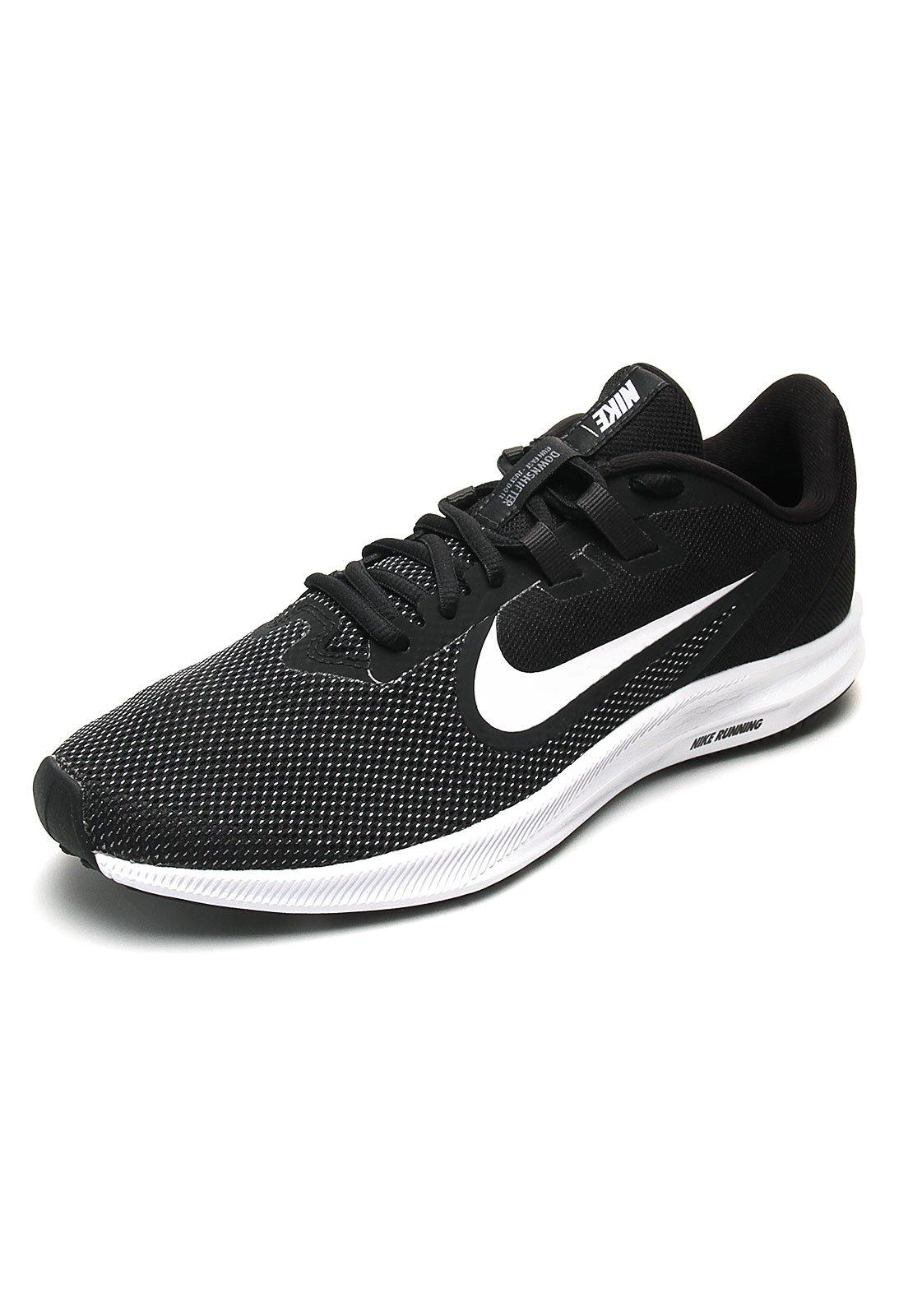 Tenis Running Negro-Blanco Nike Downshifter 9